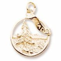 Canada Charm In Yellow Gold