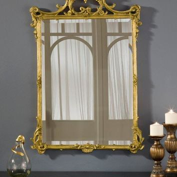 English Victorian  Gold Mirror (Rectangular)