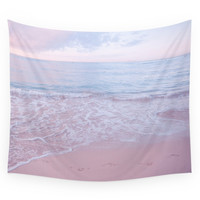 Society6 Calm Day 02 Ver.pink Wall Tapestry