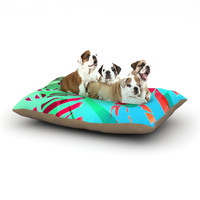 """Alison Coxon """"Cool Tropical"""" Blue Green Dog Bed"""