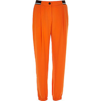 River Island Womens Orange soft contrast trim joggers