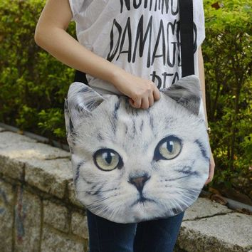 Cat Cross Body Cat Tote Bag Cat Portrait Bag Cat Print Tote Pet Lover Bag Animal Portrait Bag Animal Collective Cb026
