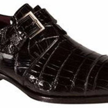 Berlin Alligator Monkstrap by Mezlan