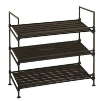 Organize It All Ebonize 3-Tier Shoe Rack in Espresso
