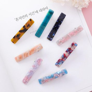 Women Hair Jewelry Blue Pink Green Hair Accessories Cute Romantic Acrylic Hairpins Fine Jewellery Colorful Fashion Hair Pins