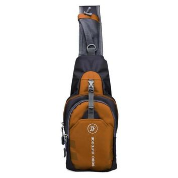 Canvas Sling Backpack Travel Bags with Pockets