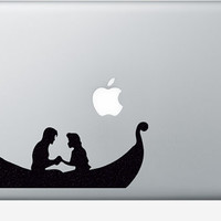 Rapunzel Velvet Wall Decal - Tangled Boat Laptop Sticker - Rapunzel and Flynn Window Decor - Princess Macbook Decal - Vinyl Sticker