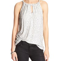 Banana Republic Womens Factory Print Cut Out Halter