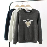 Sheep Embroidered Sweater