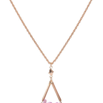 Olea Crystal Necklace - Purple