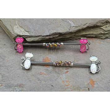 Opal Kitty Cat Industrial Barbell