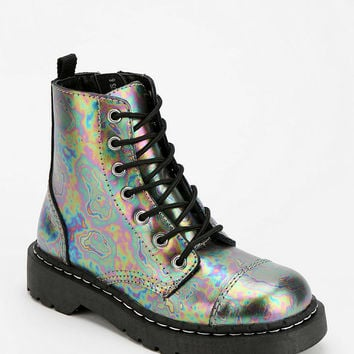 T.U.K. Oil Slick Combat Boot - Urban Outfitters