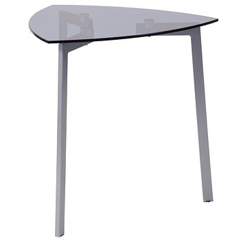 Brighton Collection Triangular Side Table with Metal Legs