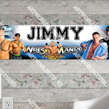 Personalized/Customized John Cena Poster, Border Mat and Frame Options Banner 430