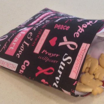 Reusable Snack Bag - Breast Cancer Awareness