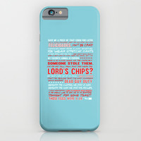Nacho libre quotes.. the lord's chips iPhone & iPod Case by Studiomarshallarts