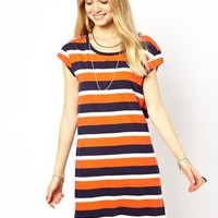 Pepe Jeans Striped T-Shirt Dress