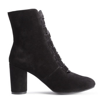 H&M Suede Ankle Boots with Lacing $99