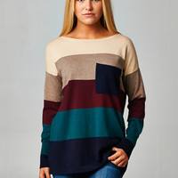 Wine Country Colorblock Sweater