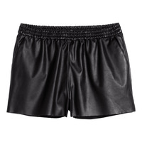 H&M - Imitation Leather Shorts