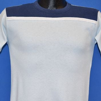 80s Blue Jersey Style t-shirt Youth Large