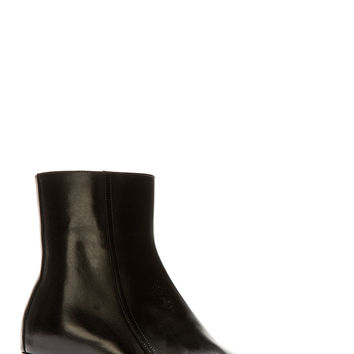 Versace Black Leather Runway Boots