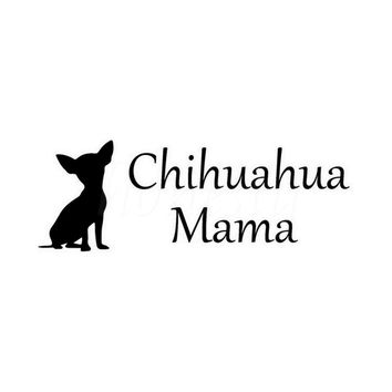 Chihuahua Dog Animal Car  Sticker Wall Home Glass Window Door Laptop Auto Truck Black Vinyl Decal Decor Gift 17.9cmX6.6cm