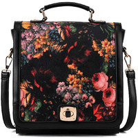 ROMWE | Floret Print Lock Bag, The Latest Street Fashion