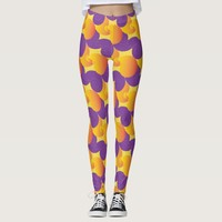 Purple and Yellow Pattern Colorful Leggings