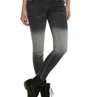 ChiQle Black Grey Graduation Wash Skinny Jeans