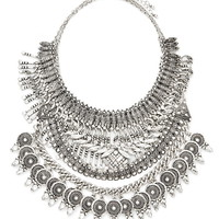 Etched Statement Necklace Set
