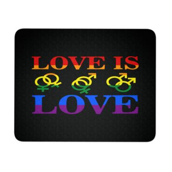 Gay Pride Mouse Pad Love Is Love
