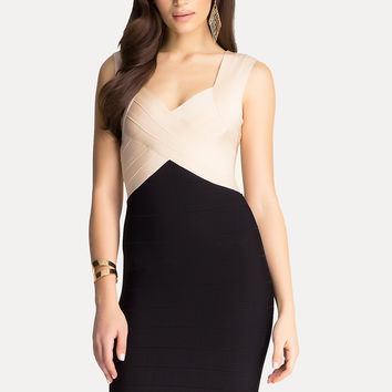 bebe Womens Ally Colorblock Dress
