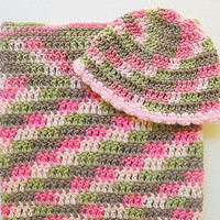 Pink  Camouflage Cocoon And Baby Girl Hat Set Newborn Camo  Sleep Sack With Cap 0 To 6 Months Infant Bunting And Beanie