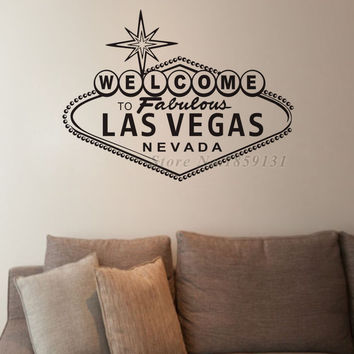 Welcome To Fabulous Las Vegas Wall Sticker Character