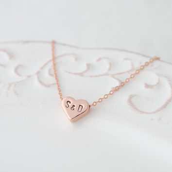 Personalized love necklace - letter & letter necklace - 1288