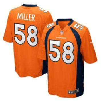 LMFYD9 Men's Denver Broncos #58 Von Miller Orange Nike NFL Vapor Untouchable Limited Jersey