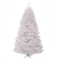 3.5 ft Sparkle White Spruce Artificial Christmas Tree With White LED Lights