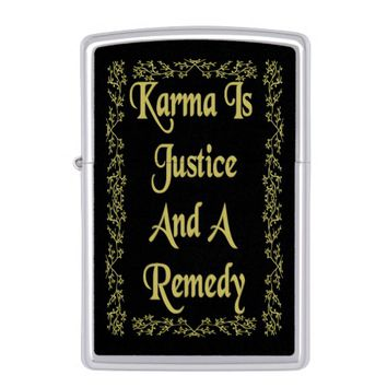 Justice Gold Quote by Kat Worth Zippo Lighter