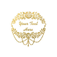 Wedding Party Favors, 10 Metallic Gold Tattoos, Personalized Party Tattoos, Custom Metallic Gold Tattoos, Bridal Party Temporary Tattoos