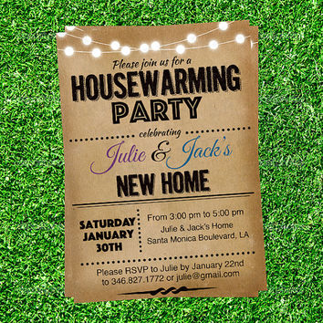 House warming party invitations What is house warming