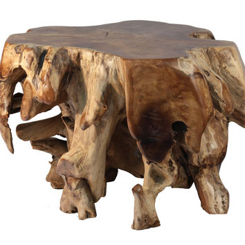 Teak Wood Root Table