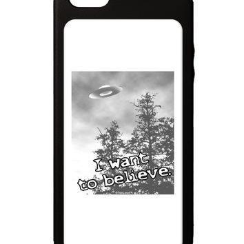 I Want to Believe - UFO iPhone 5C Grip Case  by TooLoud