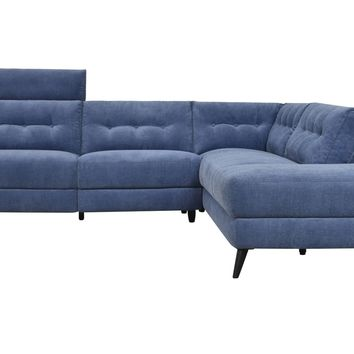 Beaumont Power Sectional Right Navy Navy Blue