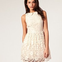 ASOS | ASOS Lace Dress with Peter Pan Collar at ASOS