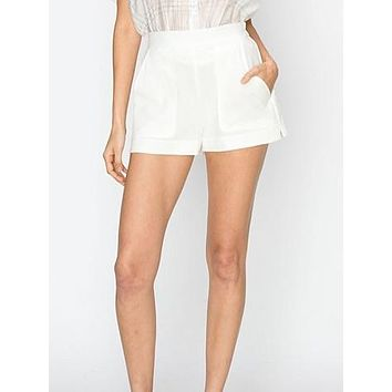 Hands Down Shorts | White