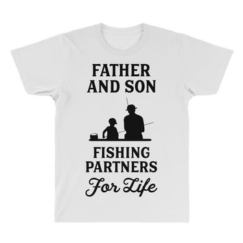 Father and Son Fishing Partners For Life All Over Men's T-shirt