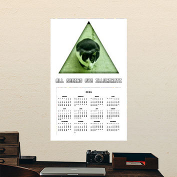 All Seeing Eye Illuminati Cat Calendars | Artist : Nitin Kapoor