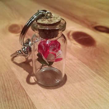 Alice in Wonderland Painting the Roses Red Keychain