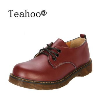 Shoes Woman Oxford Shoes 2017 Autumn Fall Women Oxford Flats Shoes Vintage Round Toe Women Flats England Style Chaussure Femmer